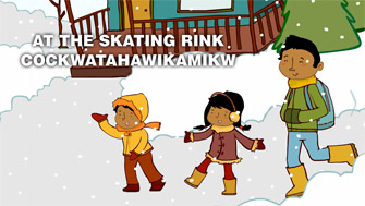 At the skating rink / Cockwatahawikamikw